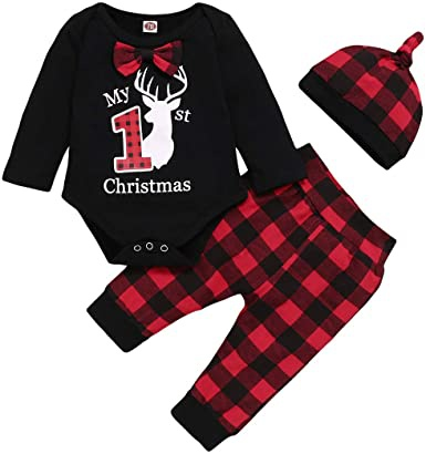 babys first christmas outfit boy-1