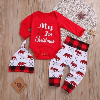 babys first christmas outfit boy-2