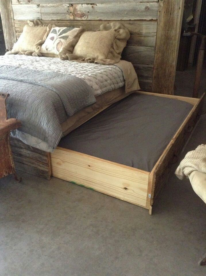 dog bed next to bed-1