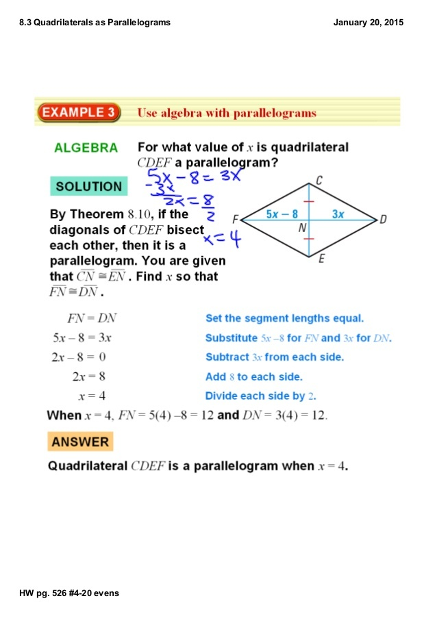 figure cdef is a parallelogram. what is the value of r? 2 3 4 5-1