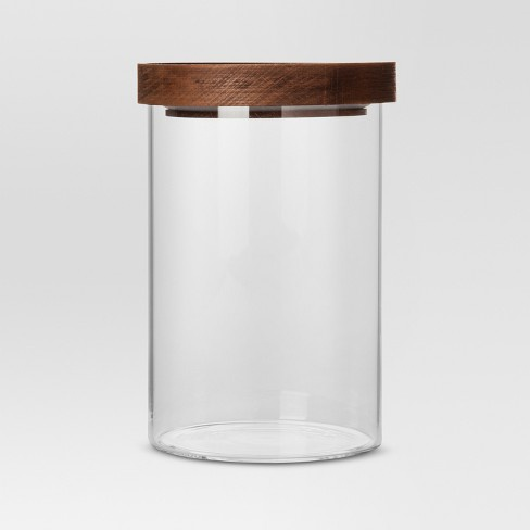 glass canisters with wood lids-0