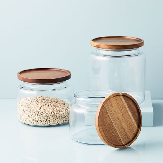 glass canisters with wood lids-3