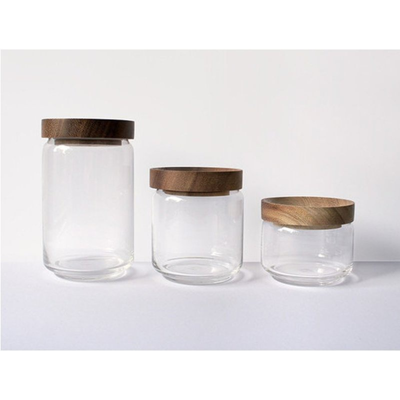 glass canisters with wood lids-4
