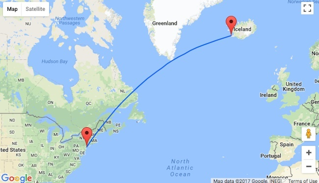 how long is the flight from new york to iceland-0