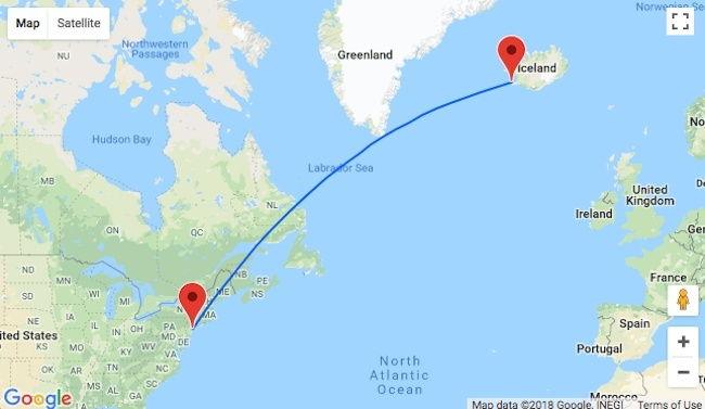 how long is the flight from new york to iceland-1