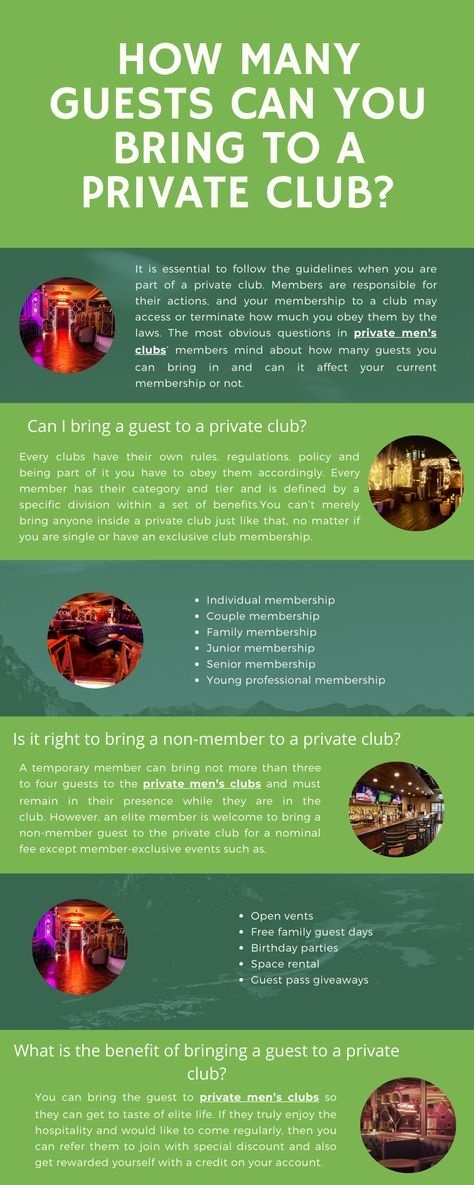 how many guests may a temporary member bring to a private club?-0