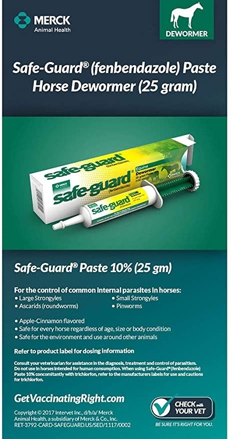 how much safeguard horse wormer to give a dog-4