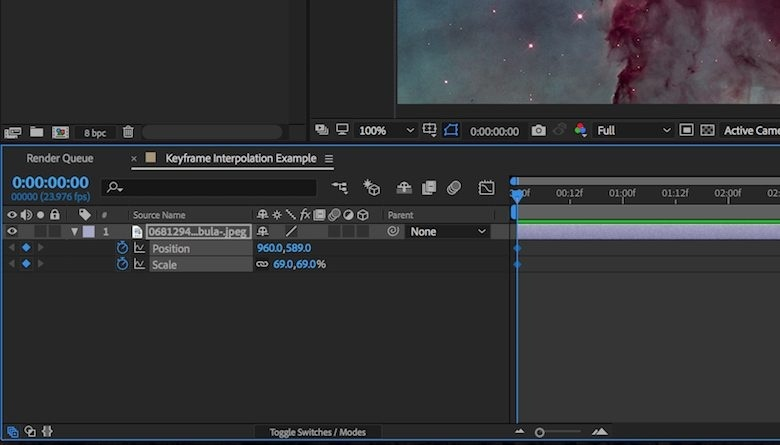 how to add keyframe in after effects-2
