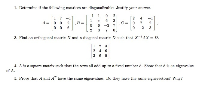 how to determine if a matrix is diagonalizable-1