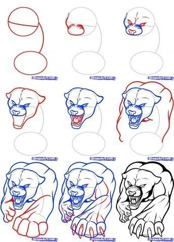 how to draw tattoos step by step-0