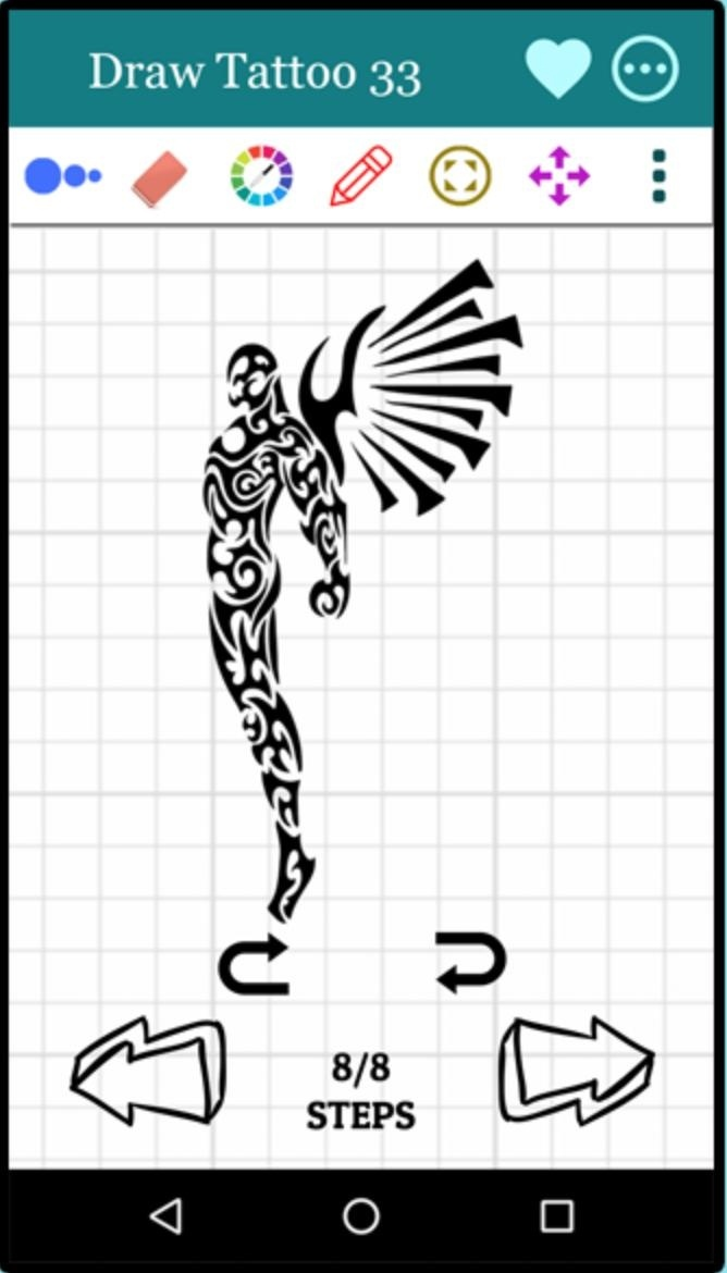 how to draw tattoos step by step-1