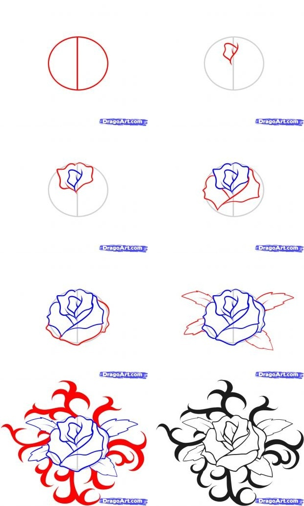 how to draw tattoos step by step-2