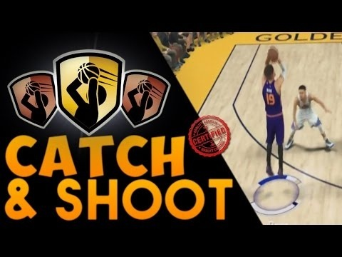 how to get catch and shoot badge 2k17-1