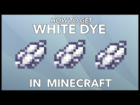 how to get white dye in minecraft-1
