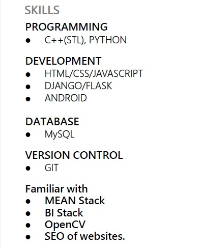 how to list programming languages on resume-0