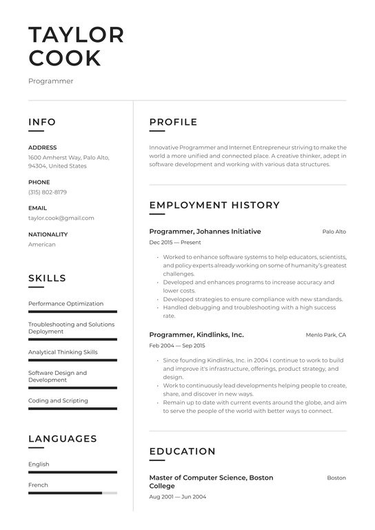 how to list programming languages on resume-1