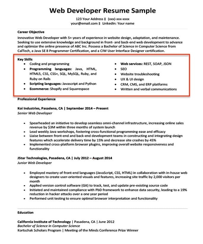 how to list programming languages on resume-2