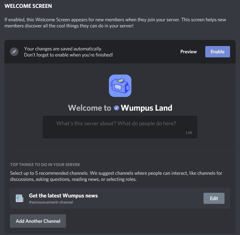 how to make a welcome channel in discord-1