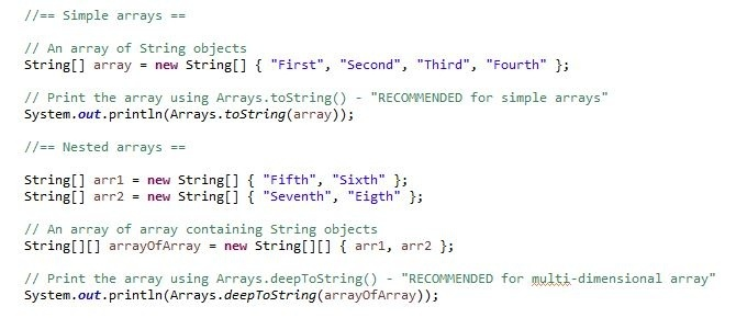 how to print a 2d array in java-0