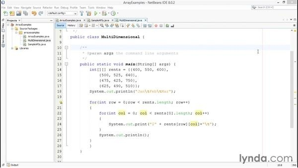 how to print a 2d array in java-1