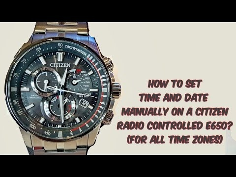 how to set time on citizen eco drive radio controlled-1