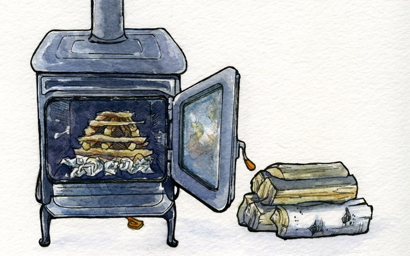 how to start a fire in a wood stove-1