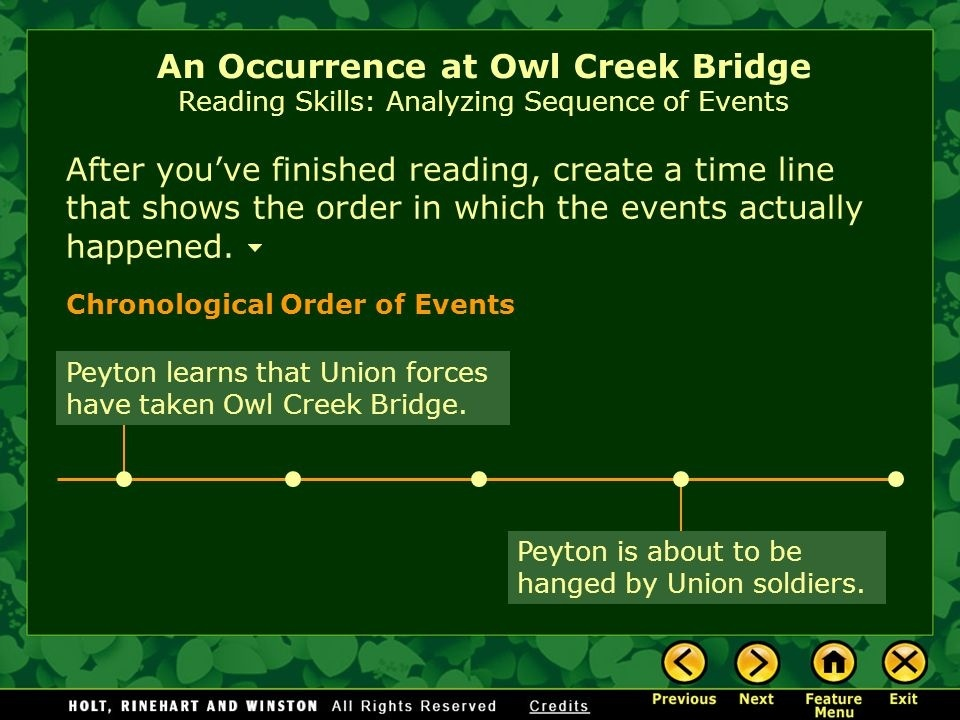 in an occurrence at owl creek bridge the gray clad soldier who tells farquhar about the bridge is-4