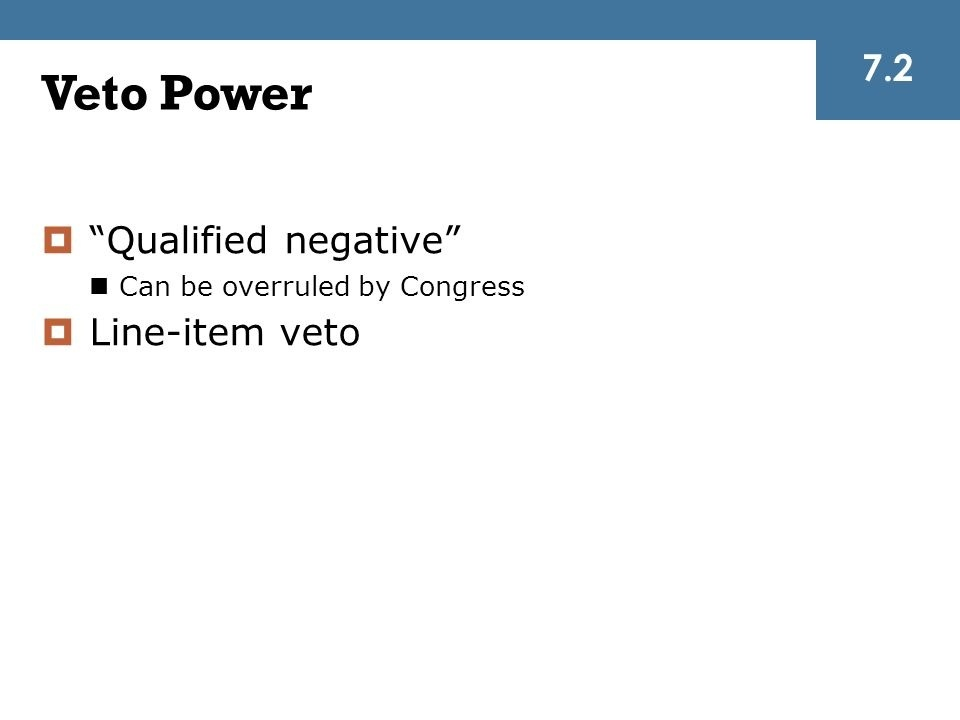 in what sense is the veto a