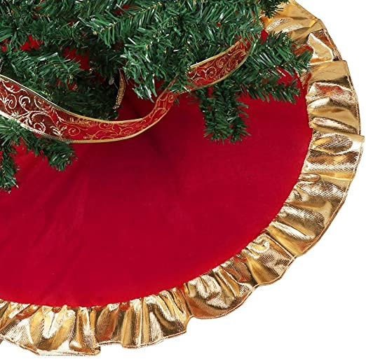 red and gold tree skirt-0