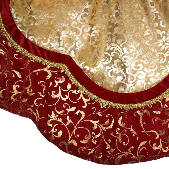 red and gold tree skirt-1