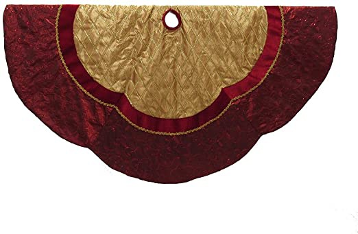 red and gold tree skirt-2
