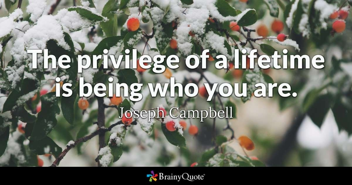 the privilege of a lifetime is to become who you truly are-2
