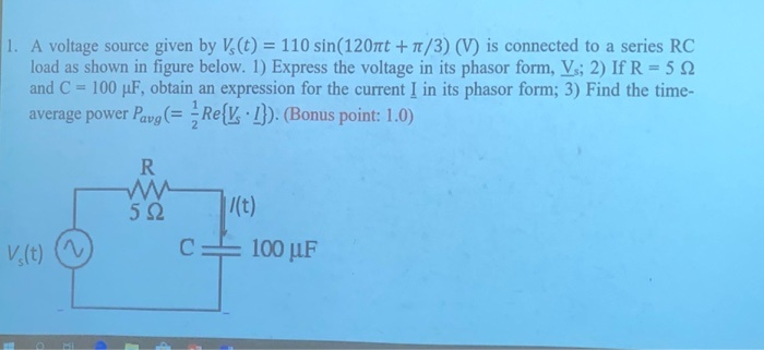 what is the average power pavg supplied by the voltage source?-0