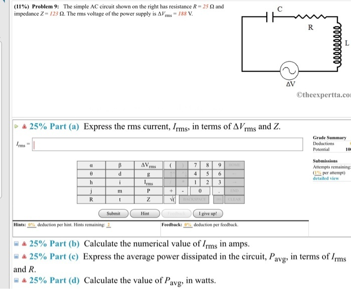 what is the average power pavg supplied by the voltage source?-1