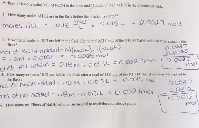 what is the ph at the equivalence point in the titration of 100 ml of 0.10 m hcl with 0.10 m naoh?-1