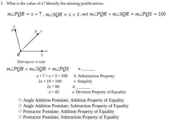 what is the value of x identify the missing justifications-1