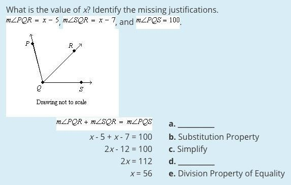 what is the value of x identify the missing justifications-2