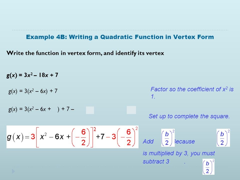 what is the vertex of g(x) = –3x2 + 18x + 2?-1