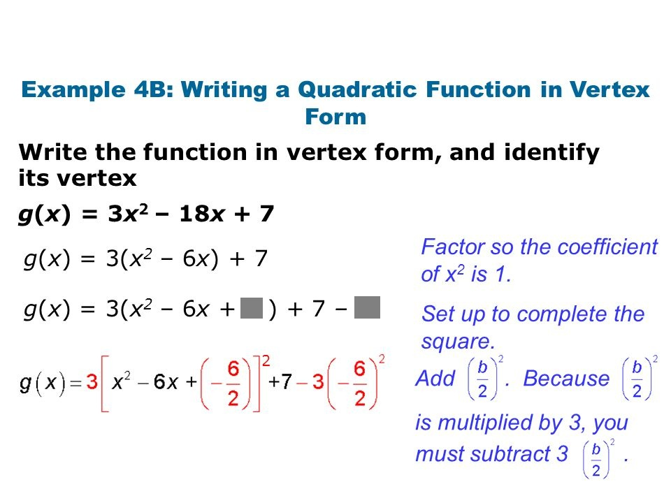 what is the vertex of g(x) = –3x2 + 18x + 2?-3
