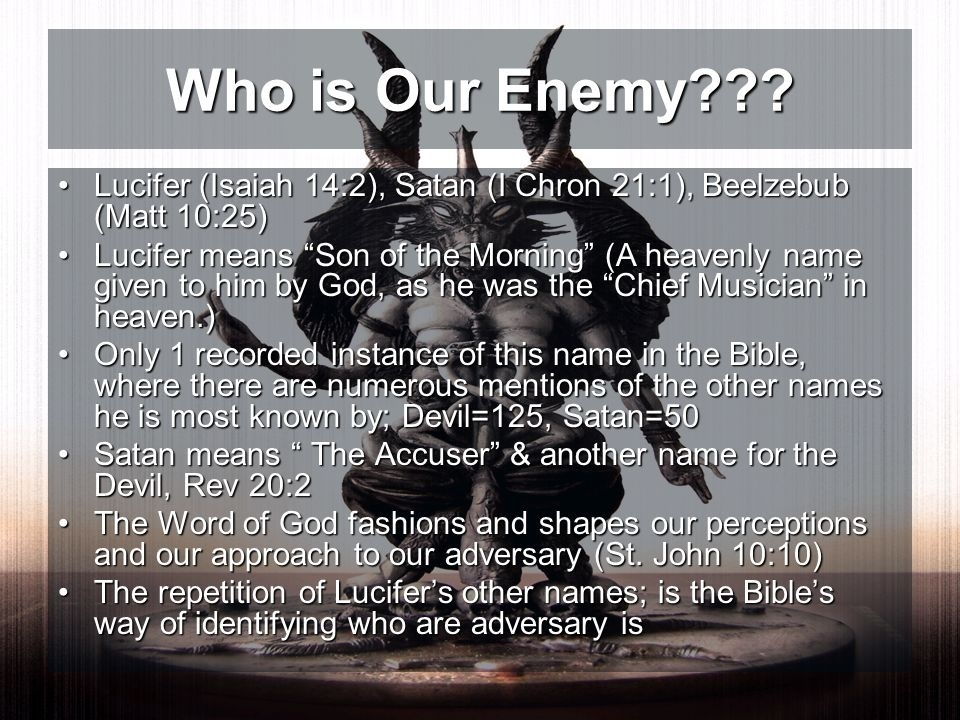 who is an enemy according to the bible-1