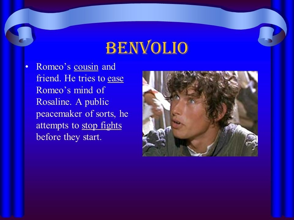 who is benvolio and what does he attempt to do-1