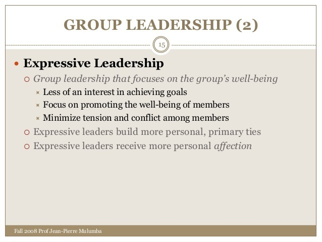 who is more likely to be an expressive leader?-0