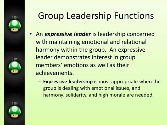 who is more likely to be an expressive leader?-3