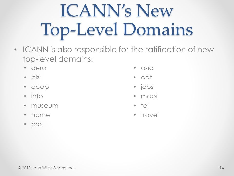who is responsible for the ratification of new top-level domains?-3