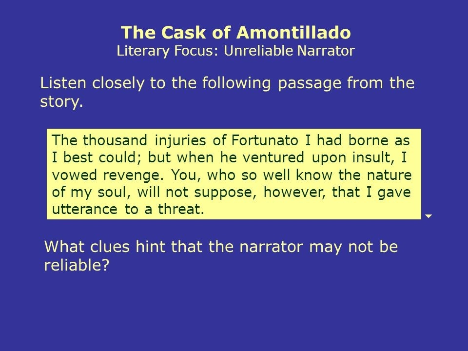 who is the narrator in the cask of amontillado-4