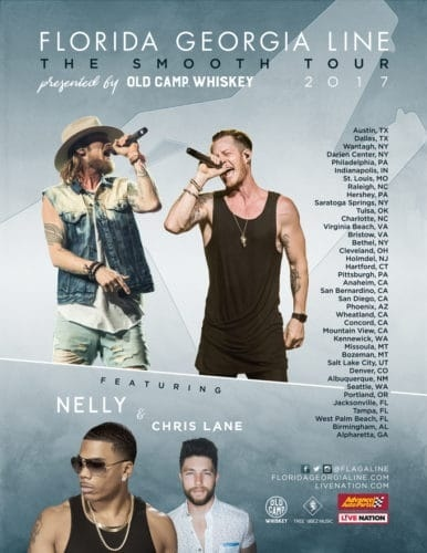who is touring with florida georgia line 2017-1