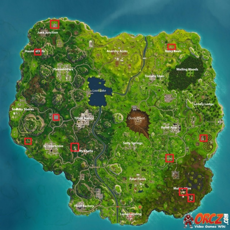 where are all the cameras in fortnite-0