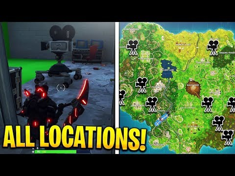 where are all the cameras in fortnite-2