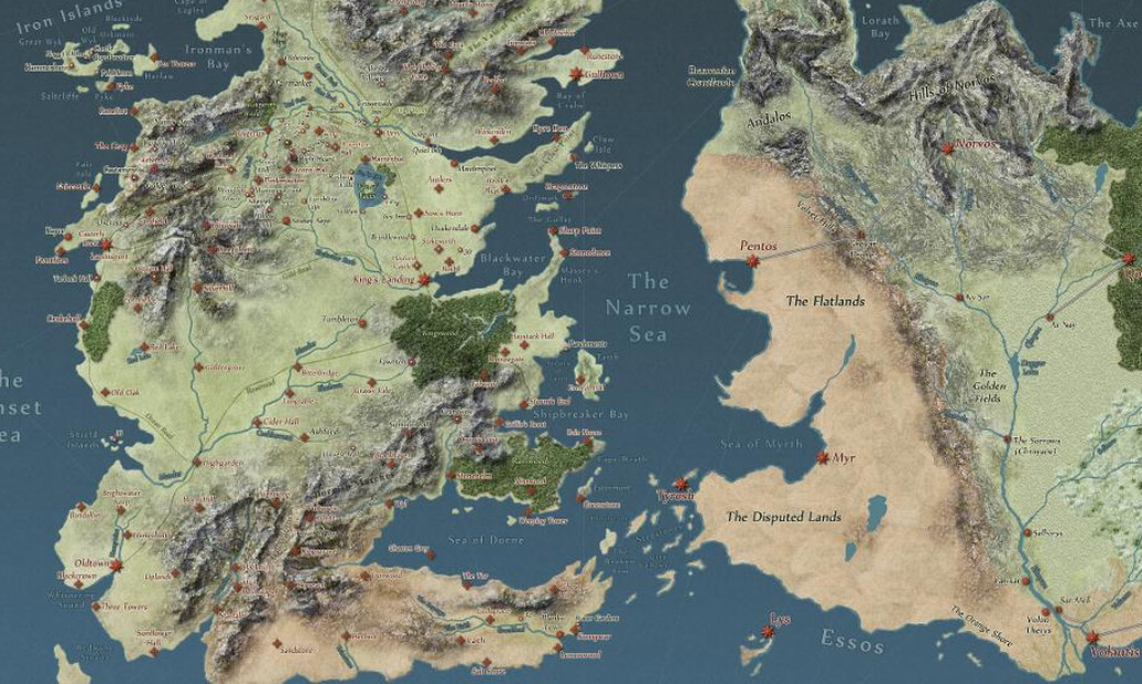 game of thrones map-4