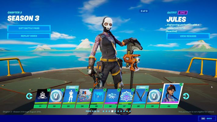 fortnite battle pass 3-8